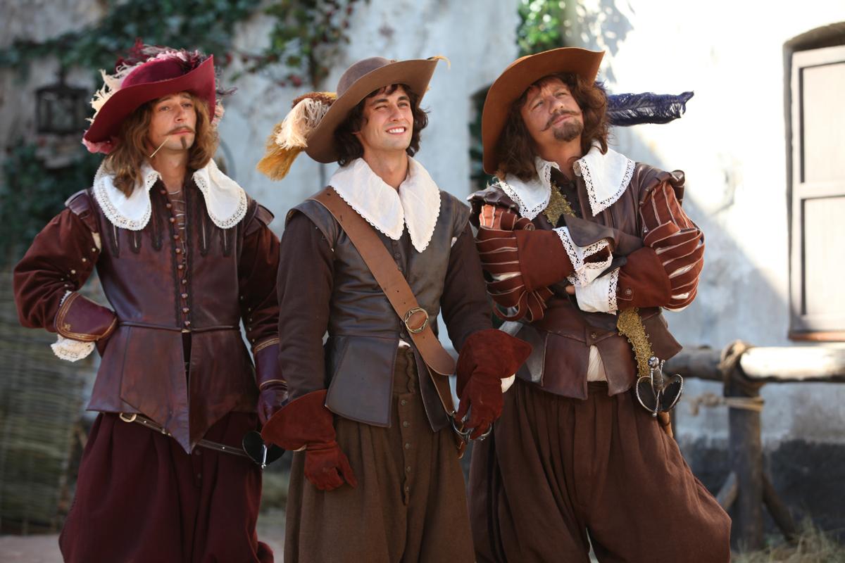 Как три мушкетёра?